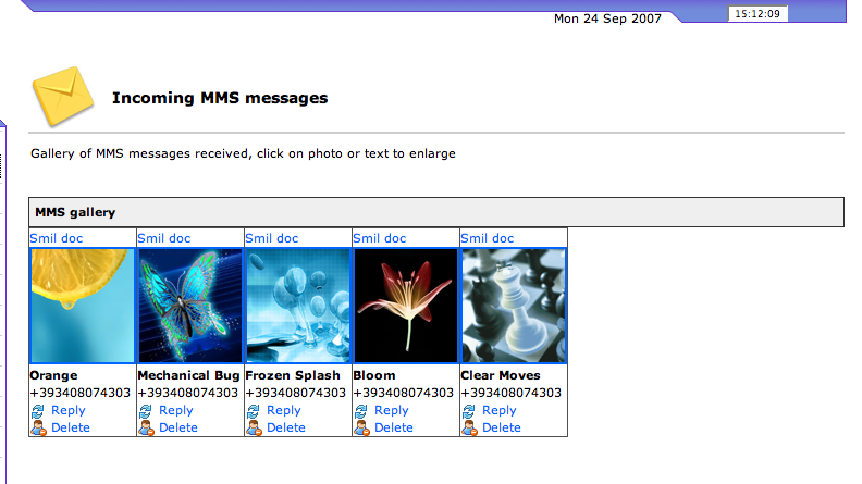 MMS Gallery summary